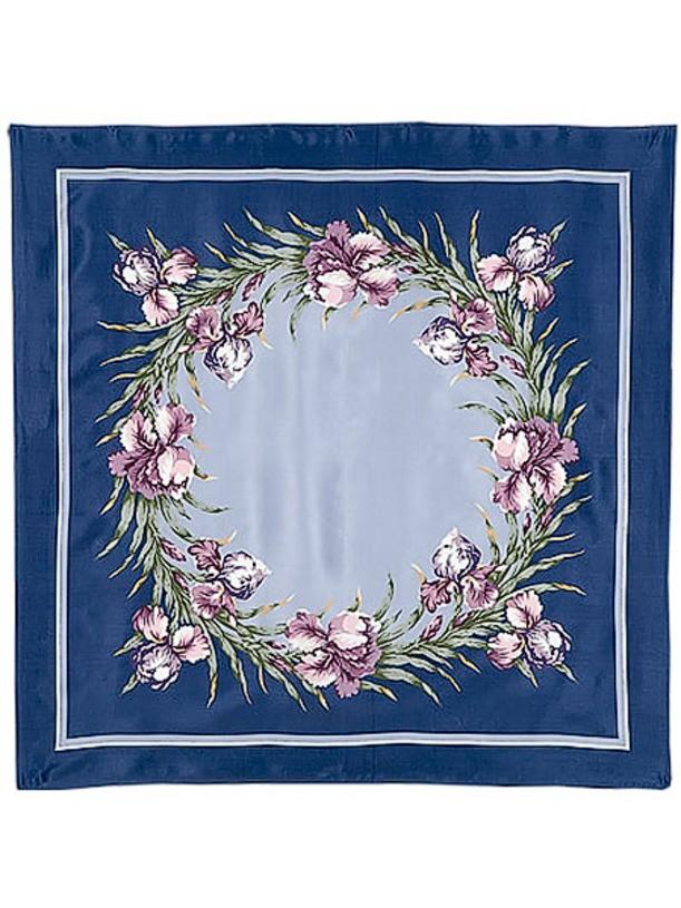 Павлопосадский шелковый платок с рисунком Аметист