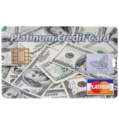 Флешка-кредитка Platinum Credit Card USD (4 Гб)