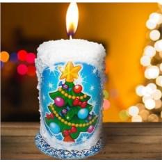 Новогодняя свеча «Лесная красавица»