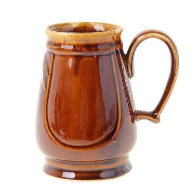 Кружка для пива Евро, коричневая (1 литр)