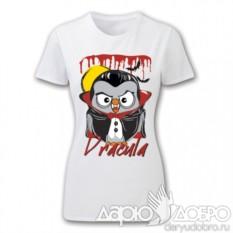 Женская футболка с совой Дракула Goofi