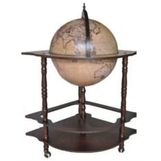 Светлый напольный угловой глобус-бар