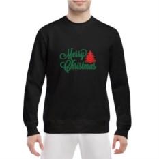 Мужской свитшот Merry Christmas (цвет: черный)