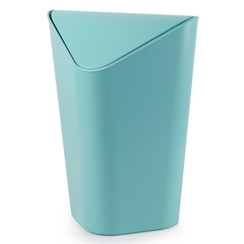 Голубая угловая корзина для мусора Corner