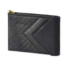 Черный кожаный зажим для денег