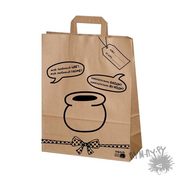 Подарочный крафт-пакет Горшочек Иа-Иа