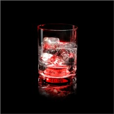 Красный светящийся бокал для виски GlasShine
