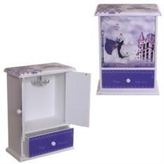 Фиолетовая шкатулка, размер 14,5 х 7 х 20 см.
