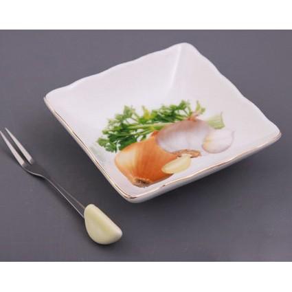 Блюдо с вилкой «Овощи»
