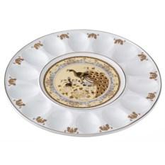 Тарелка для яиц Бежевый павлин Porcelain Manufacturing