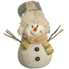 Фигурка Снеговик в шарфе