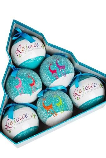 Набор елочных шаров Счастливый праздник
