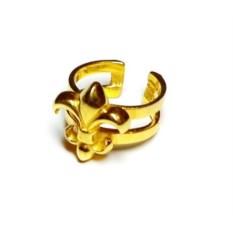 Кольцо с флер де лис (позолоченное серебро)