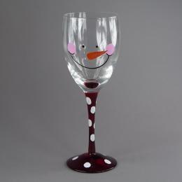 Винный бокал «Снеговик»