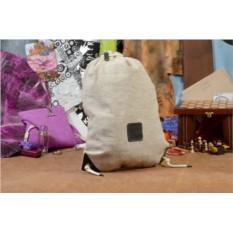 Бежевый текстильный рюкзак