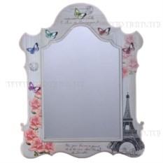 Настенное зеркало с изображением бабочек и цветов
