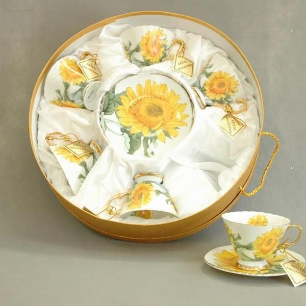 Чайный набор на 6 персон Подсолнух