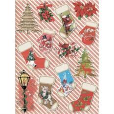 Рисовая бумага для декупажа Счастливого Рождества