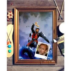 Портрет по фото Рыцарь - победитель драконов