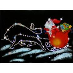 Картина с кристаллами Сваровски Мороз в пути