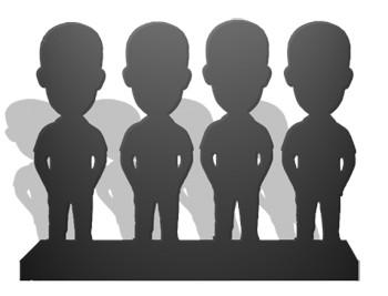 Статуэтки по фото – 4 человека