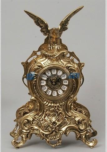 Часы из бронзы Орёл 38х25 см, цвет золотой