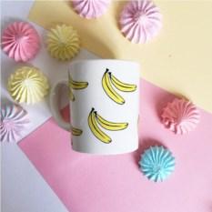 Фарфоровая кружка Бананы
