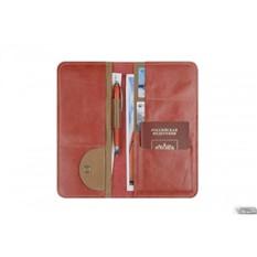 Холдер кожаный для документов Artskill Travel (красный)