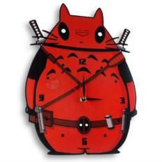 Настенные часы Тоторо & Deadpool