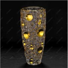 Хрустальная ваза для цветов Золотые Огни