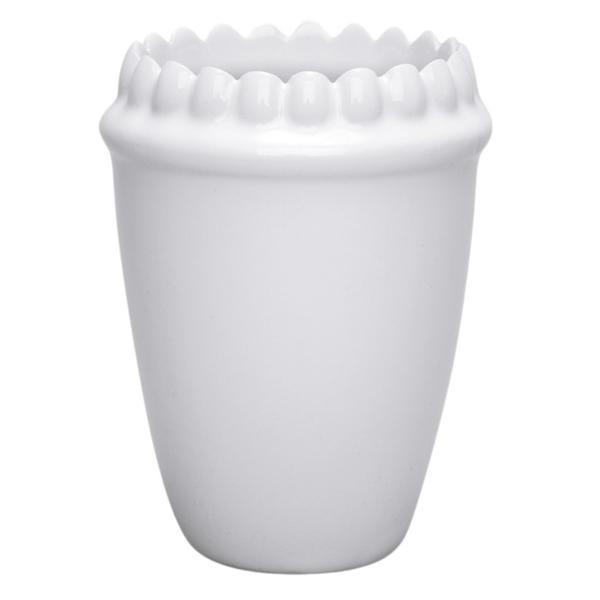 Зубастый стакан белый
