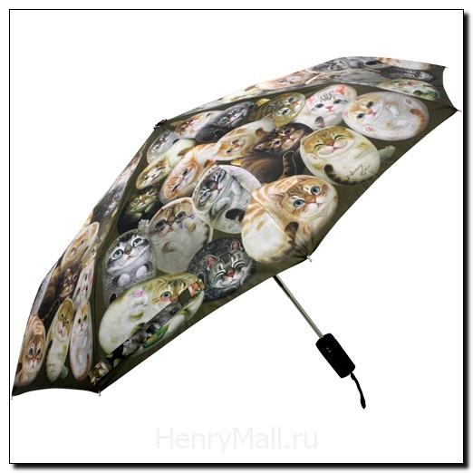 Зонт-автомат многосекционный «Кошки Генри»