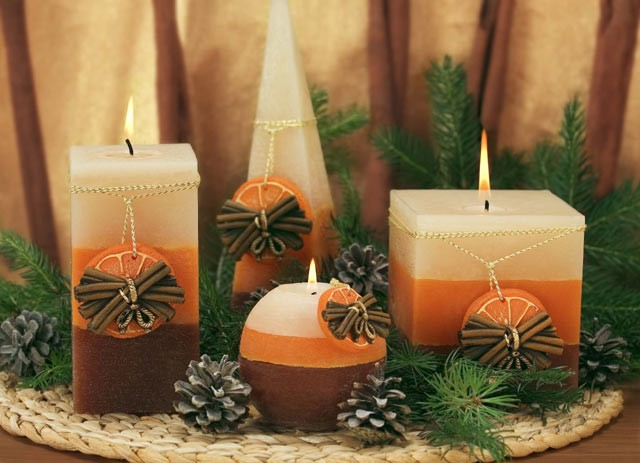 Свечи арома своими руками