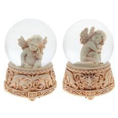 Декоративная фигурка в стеклянном шаре с музыкой Ангел