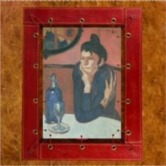 Картина из кожи Любительница абсента Пикассо