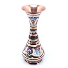 Медная ваза Айсун с ручной росписью