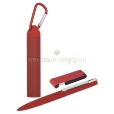 Красный набор Ручка, флеш-карта и источник энергии