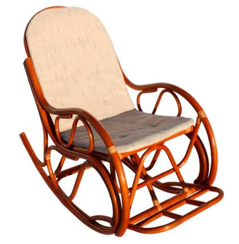 Кресло качалка с подушкой