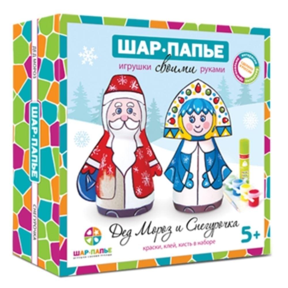 """Детский набор-раскраска """"Шар-папье Дед Мороз и Снегурочка ..."""