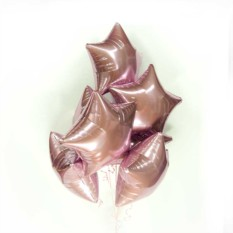 Фольгированные шары Розовые звезды