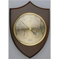 Метеостанция Щит: большой барометр, термометр, гигрометр