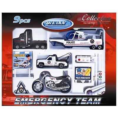 Игровой набор Машинка Welly. Полиция