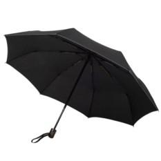 Зонт с прямой ручкой и серой окантовкой Wood Classic