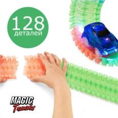Конструктор трассы Magic Tracks из 128 деталей и машинка