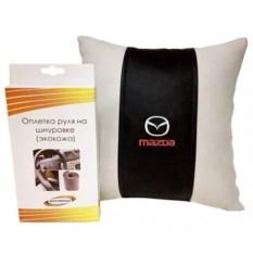 Подарочный набор (декоративная подушка, оплетка руля), Mazda