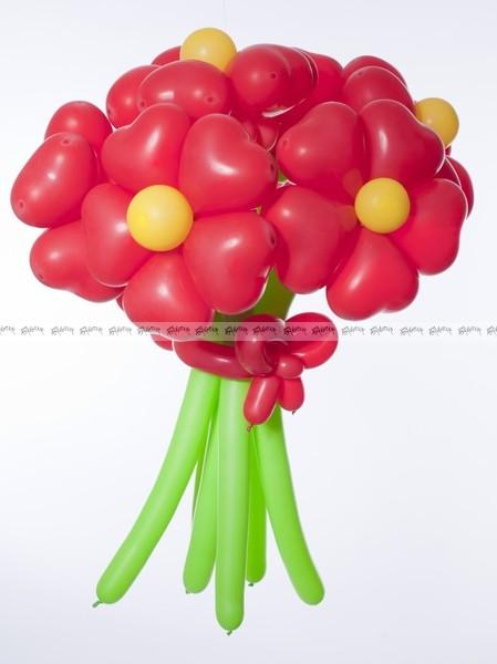 Аленькие цветочки средний букет из шаров - 7 штук