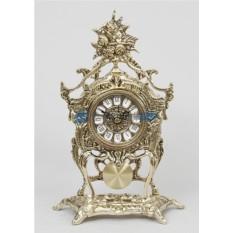 Часы из бронзы с маятником Розы, золотые