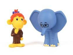 Набор игрушек для купания Слоненок и Мартышка