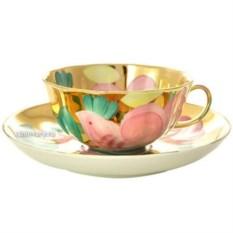 Фарфоровый чайный сервиз на 6 персон Розовая птица