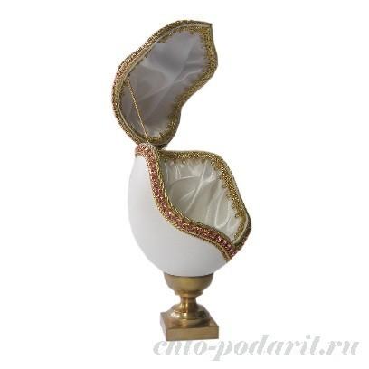 Шкатулка из натурального гусиного яйца